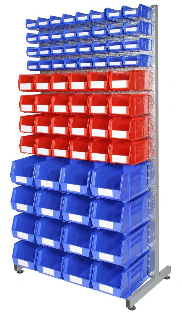 Double Sided Louvre rack with bins - Kit B